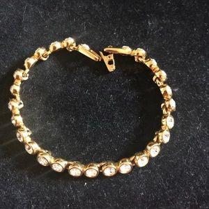Gold tone Swarovski crystal bracelet